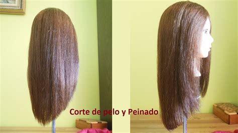 corte en v con capas corte de pelo largo v corte de pelo en cascada sin capas