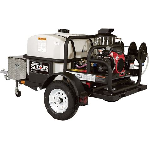 shipping northstar trailer mounted hot water commercial pressure washer  psi