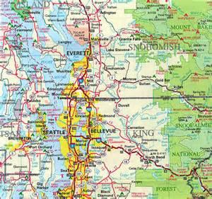 Wa State Road Map by Western Washington Area Maps Courtesy Of Beryl Gosney Of