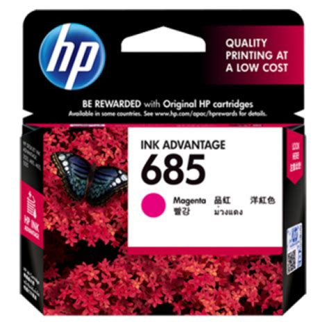 Hp 685 Magenta Original Ink Cartridge Cz123aa hp 685 magenta ink cartridge cz123aa
