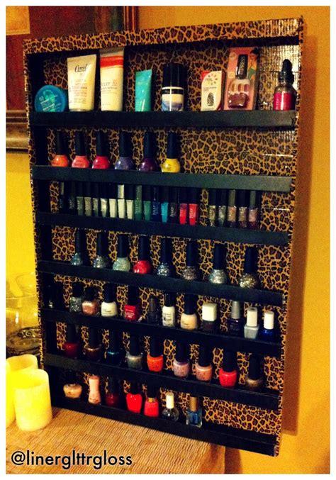 Nail Shelf Diy by Diy Nail Rack Liner And Glitter And Gloss Oh