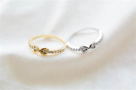 tiny cz infinity knuckle ring rings cubic zirconia