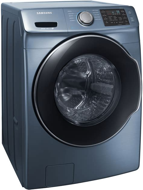 samsung azure blue front load steam washer wfmaz