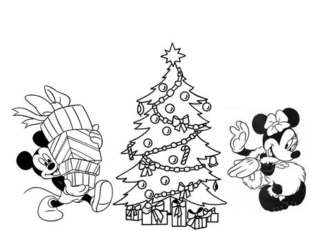 Disney Christmas Coloring Pages For Kids Printable Disney Tree Coloring Page