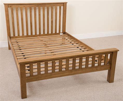 kingsize wooden bed frame cotswold solid oak wood 5ft kingsize bed frame wooden