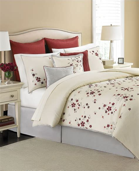 martha stewart collection cranberry blossom 9 piece