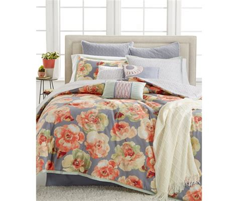 multi colored comforters kelly ripa magnolia blue ground with multi color 10p