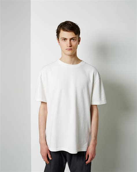 Cole T Shirt La Universal Abu Abu mhl by margaret howell pique t shirt in white for lyst