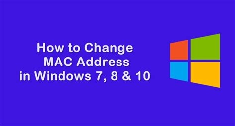 How To Search Mac Address In Windows 7 How To Change Mac Address In Windows 7 8 10
