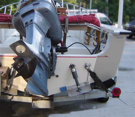 trim tabs on ski boat continuouswave whaler reference trim tab installation