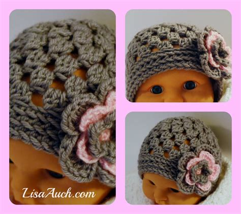 free crochet pattern newborn flower hat free crochet pattern baby hat cute baby beanie with flower