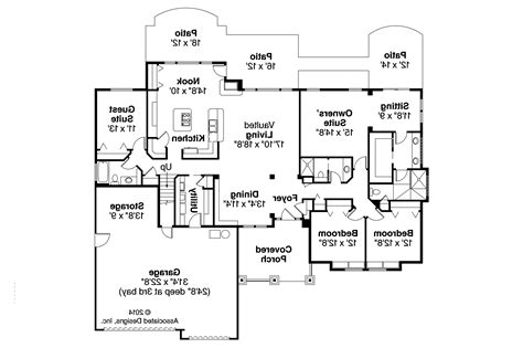 craftsman home floor plans craftsman house plans pinedale 30 228 associated designs