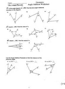 angle addition postulate worksheet lesupercoin printables