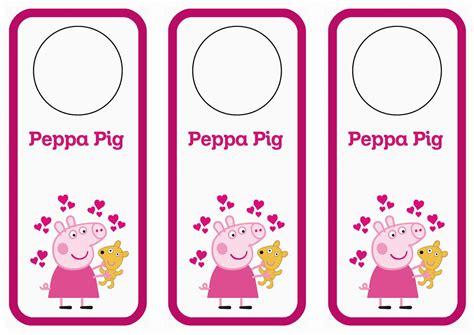 printable images of peppa pig peppa pig door hangers birthday printable