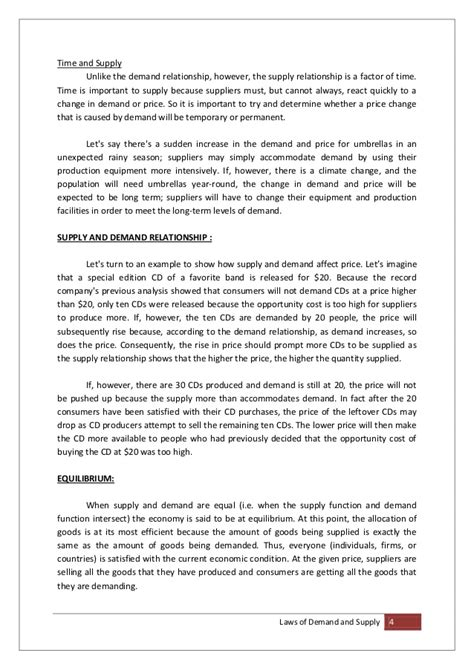 Demand And Supply Essay by Laws Of Demand And Supply