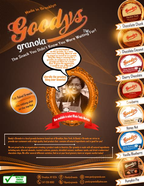 flyer design inspiration food elegant playful flyer design for goodys granola by kogner
