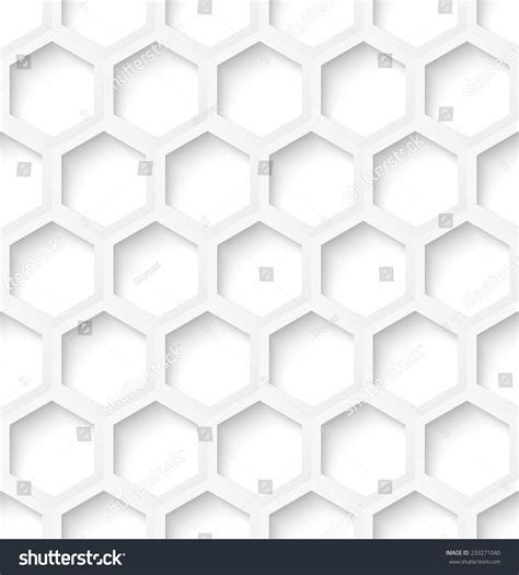 seamless hexagon pattern white paper hexagon abstract seamless pattern stock vector