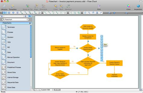 os x flowchart flowcharts solution conceptdraw