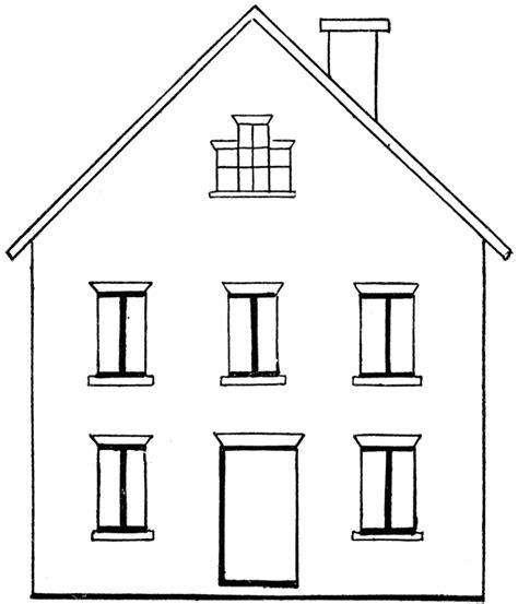 house clipart coloring black white clipartioncom