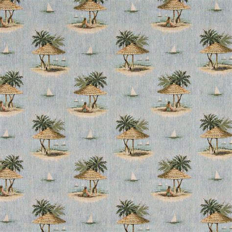 palm tree upholstery fabric sailboats palm trees umbrella themed tapestry upholstery