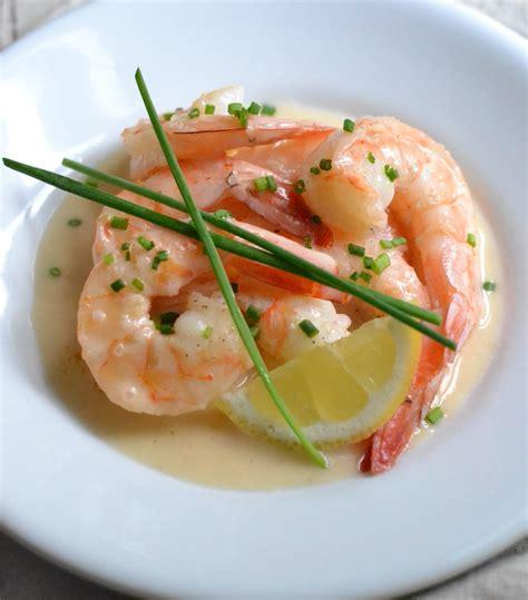 shrimp with lemon beurre blanc recipe