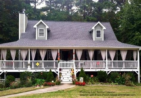 Low Country House Plans With Wrap Around Porch front porch railings options designs and installation tips
