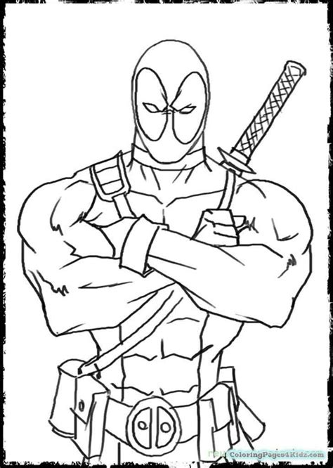 deadpool coloring book deadpool coloring pages free printable coloring pages