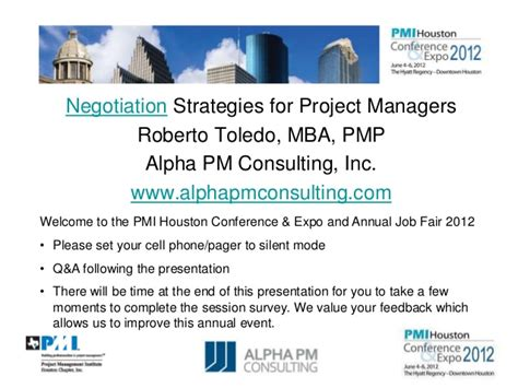 Mba Consulting Services Inc negotiation strategies for project managers