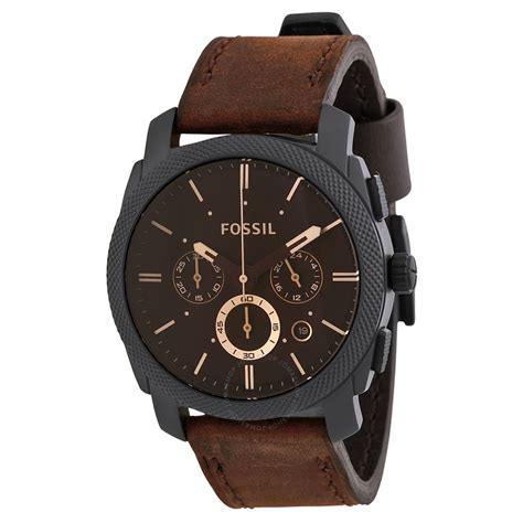 Fossil Brown Fossil Machine Flight Chronograph Brown S