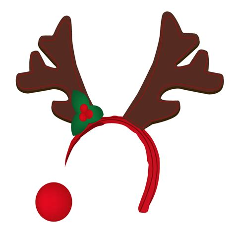 antler clipart reindeer nose pencil and in color antler