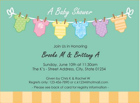 free baby shower invitation template 6 free baby shower invitations templates for word