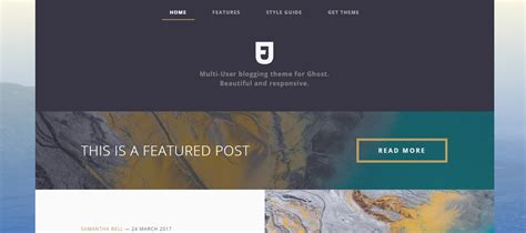 blog layout ghost 20 blog website templates for sharing your best stories