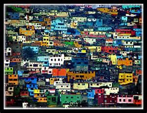 Create Room rimac barrio lima peru very colorful houses across the