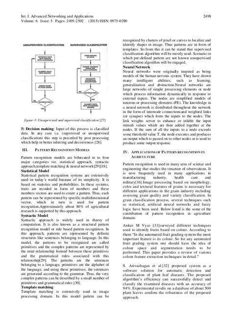 pattern recognition steps applications of pattern recognition algorithms in