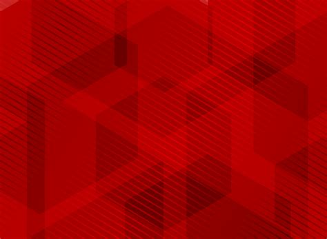 abstract geometric hexagons overlapping red background