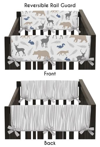 Baby Crib Guard Rail Covers by Baby Crib Side Rail Guard Covers For Woodland Animals By