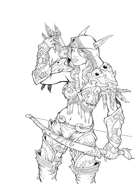 how to draw sylvanas sylvanas windrunner by illyne on