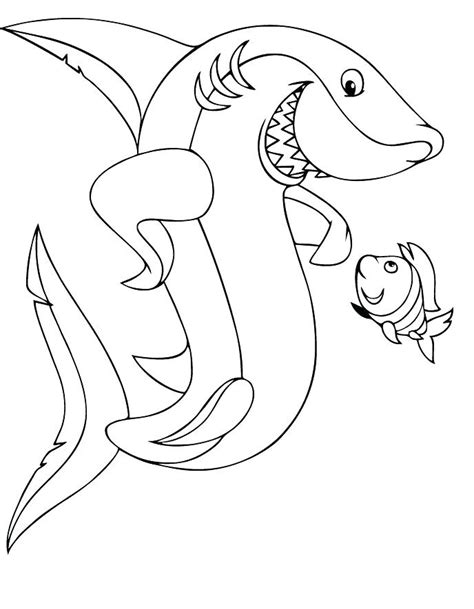 Shark Coloring Book Pages Printable