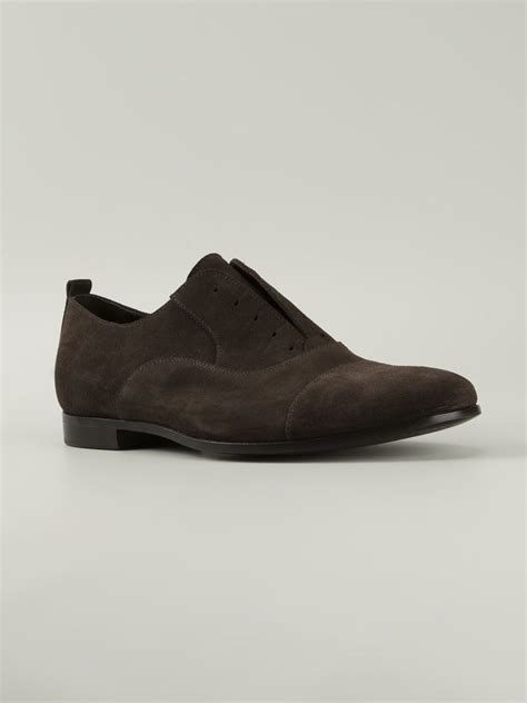 laceless oxford shoes p laceless oxford shoe in brown for lyst