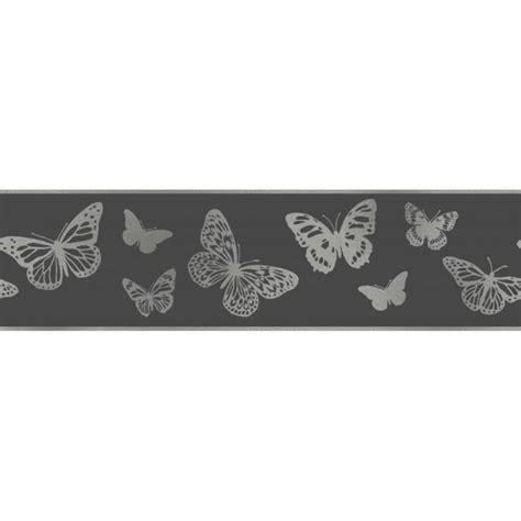 glitter wallpaper border uk fine decor glitz butterfly glitter wallpaper border black