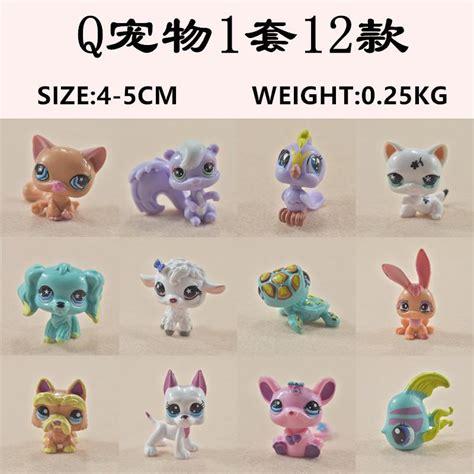 12pcs Pet Animal cheap littlest pet shop q lps littlest shop mini series pet doll animal cat