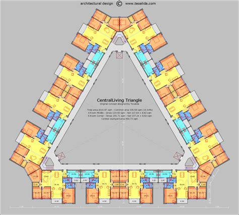 triangle floor plan centralliving triangle floor plan haydar arslan apartments architecture and