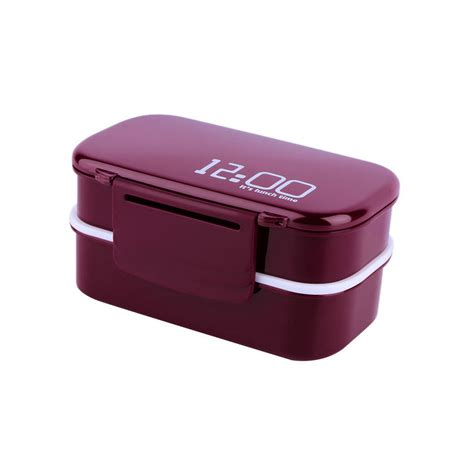 lunch box containers portable 2 layers bento lunch box plastic food container lunch container ul ebay