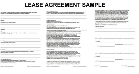 rental property lease template 52 professional lease agreement template exles twihot