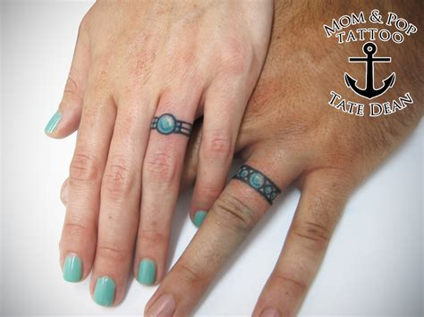 wedding band tattoos for men tate dean s portfolio