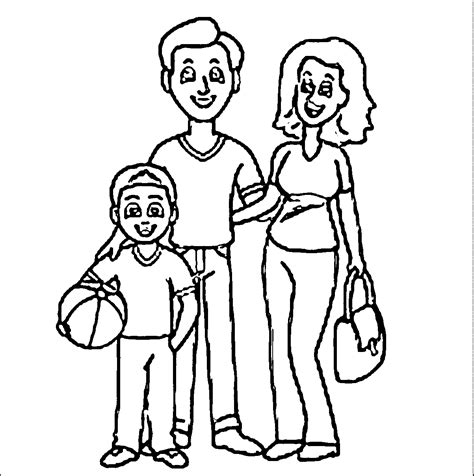 christmas coloring pages for your mom and dad family mother father son family coloring page