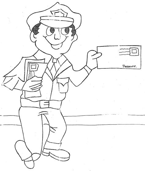 mail carrier coloring pages coloring pages