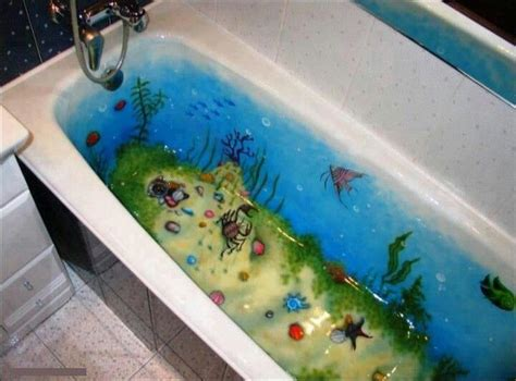 paint an underwater on tub bathroom delights