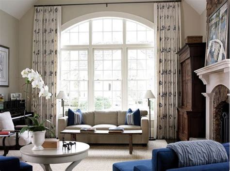 window treatments for living room draperies arched window living room window