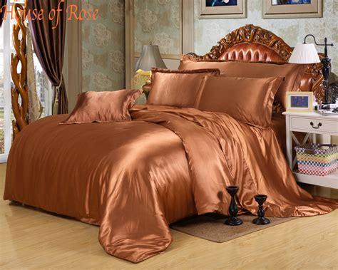 luxury pink chinese silk satin euro design bedding sets